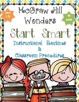 "Wonders ""Start Smart"" ~ Days 1-10 Graphic Organizers Grade 4"