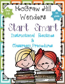 "Wonders ""Start Smart"" ~ Days 1-10 Graphic Organizers Grade 5"