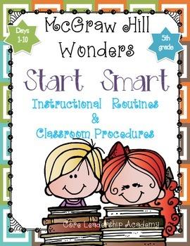 "Wonders ""Start Smart"" ~ Days 1-10 Graphic Organizers Grade 5"