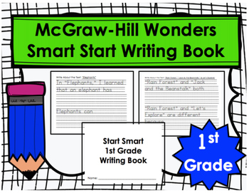 Wonders Smart Start First Grade Writing Book