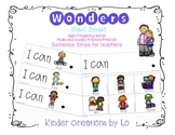Reading Wonders High-Frequency Word Sentence Strips (Start Smart)