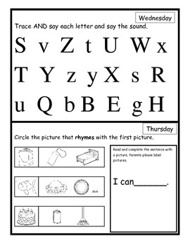 Wonders Smart Start Homework Week 3