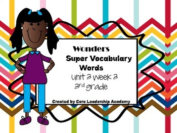 Wonders  Super Vocabulary Word Cards Unit 3 Week 3