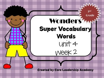 Wonders  Super Vocabulary Word Cards Unit 4 Week 2