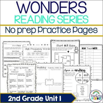 Wonders Supplemental No Prep Practice Pack {Unit 1 2nd Grade}