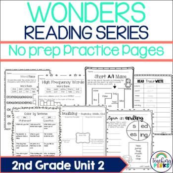 Wonders Supplemental No Prep Practice Pack {Unit 2 2nd Grade}