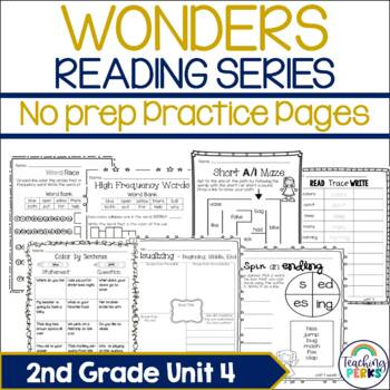Wonders Supplemental No Prep Practice Pack {Unit 4 2nd Grade}