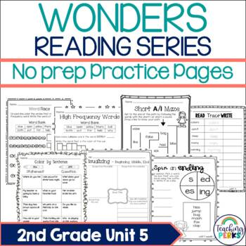 Wonders Supplemental No Prep Practice Pack {Unit 5 2nd Grade}