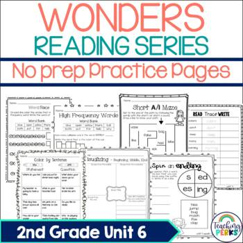 Wonders Supplemental No Prep Practice Pack {Unit 6 2nd Grade}
