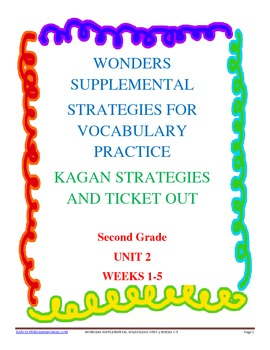 Wonders Supplemental Vocabulary Practice Second Grade