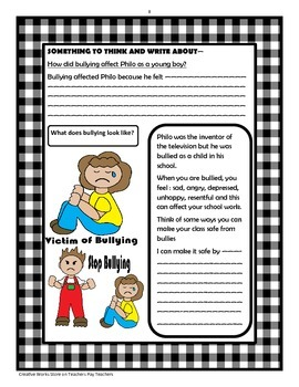 The Boy Who Invented TV  - Questions, Activities + Bundle