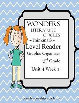 Wonders Thinkmark Literature Circles Complete Unit 4 Week 1-5