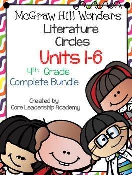 Wonders Thinkmark Literature Circles Unit 1-6  Bundle~ 4th Grade
