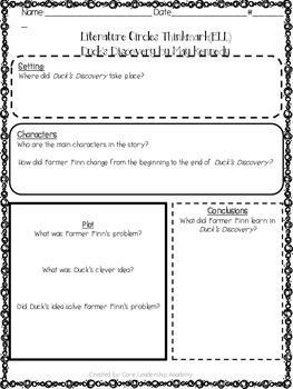 Wonders Thinkmark Literature Circles Unit 1 Week 1~3rd Grade