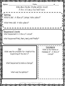 Wonders Thinkmark Literature Circles Unit 1 Week 2~3rd Grade