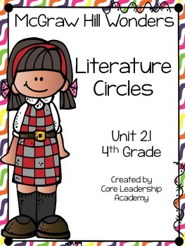 Wonders Thinkmark Literature Circles Unit 2.1 ~ 4th Grade