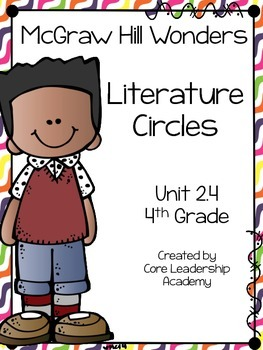 Wonders Thinkmark Literature Circles Unit 2.4 ~ 4th Grade