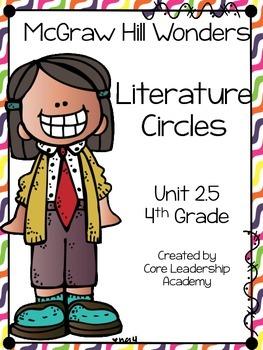 Wonders Thinkmark Literature Circles Unit 2.5 ~ 4th Grade