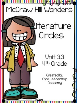 Wonders Thinkmark Literature Circles Unit 3.3 ~ 4th Grade