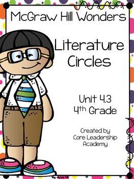 Wonders Thinkmark Literature Circles Unit 4.3 ~ 4th Grade