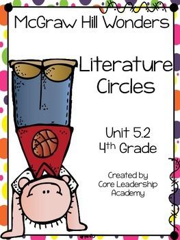 Wonders Thinkmark Literature Circles Unit 5.2~ 4th Grade