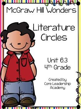 Wonders Thinkmark Literature Circles Unit 6.3 ~ 4th Grade