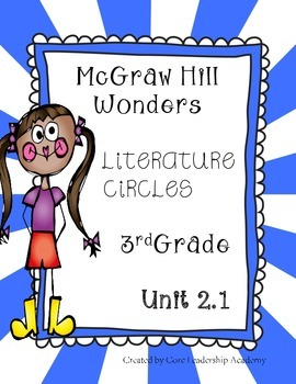 Wonders Thinkmark Literature Circles~Unit 2 Week 1