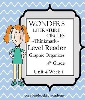 Wonders Thinkmark Literature Circles~Unit 4 Week 1