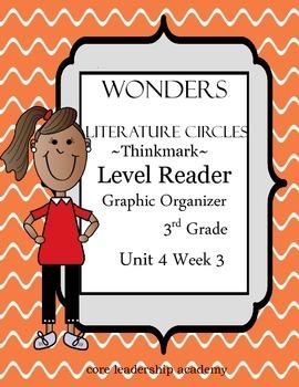 Wonders Thinkmark Literature Circles~Unit 4 Week 3