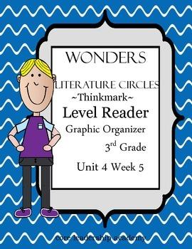 Wonders Thinkmark Literature Circles~Unit 4 Week 5