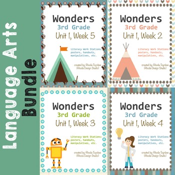 Wonders Reading Literacy Centers Unit 1 Bundle