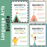 Wonders Reading Literacy Centers and Worksheets Unit 1 Full Set