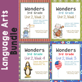 Wonders Reading Literacy Centers and Worksheets Unit 2 Full Set