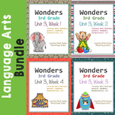 Wonders Reading Literacy Centers and Worksheets Unit 3 Full Set
