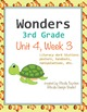 Wonders Reading Literacy Centers Unit 4 Bundle
