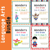 Wonders Reading Literacy Centers and Worksheets Unit 4 Full Set