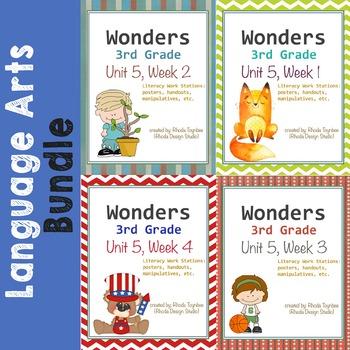 Wonders Reading Literacy Centers Unit 5 Bundle
