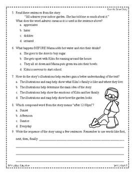Wonders Third Grade (3rd Grade) Comprehension Unit 1 Week 3