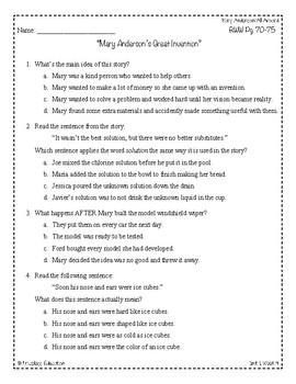 Wonders Third Grade (3rd Grade) Comprehension Unit 1 Week 4
