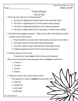 Wonders Third Grade (3rd Grade) Comprehension Unit 1 Week 5