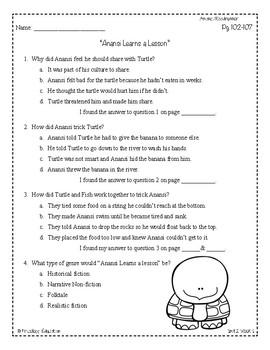 Wonders Third Grade (3rd Grade) Comprehension Unit 2 Week 1 | TpT