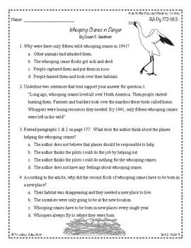 Wonders Third Grade (3rd Grade) Comprehension Unit 2 Week 4