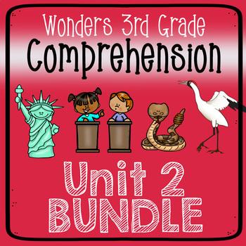 Wonders Third Grade Unit 2 Weeks 1-5 Bundle Comprehension (3rd Grade)