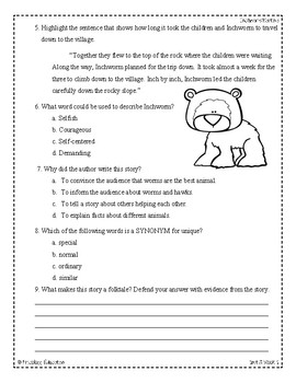 Wonders Third Grade (3rd Grade) Comprehension Unit 3 Week 1