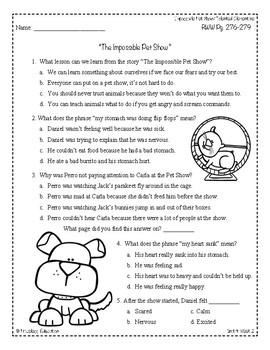Wonders Third Grade (3rd Grade) Comprehension Unit 4 Week 2