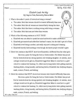 Wonders Third Grade (3rd Grade) Comprehension Unit 5 Week 4