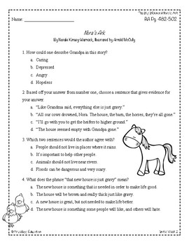 Wonders Third Grade (3rd Grade) Comprehension Unit 6 Week 2