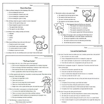 Wonders Third Grade Unit 1 Week 1-5 Bundle Comprehension (3rd Grade)