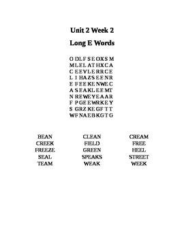 Wonders Third Grade Unit 2 Week 2 Spelling Word Search