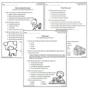 Wonders Third Grade Unit 3 Weeks 1-5 Bundle Comprehension (3rd Grade)